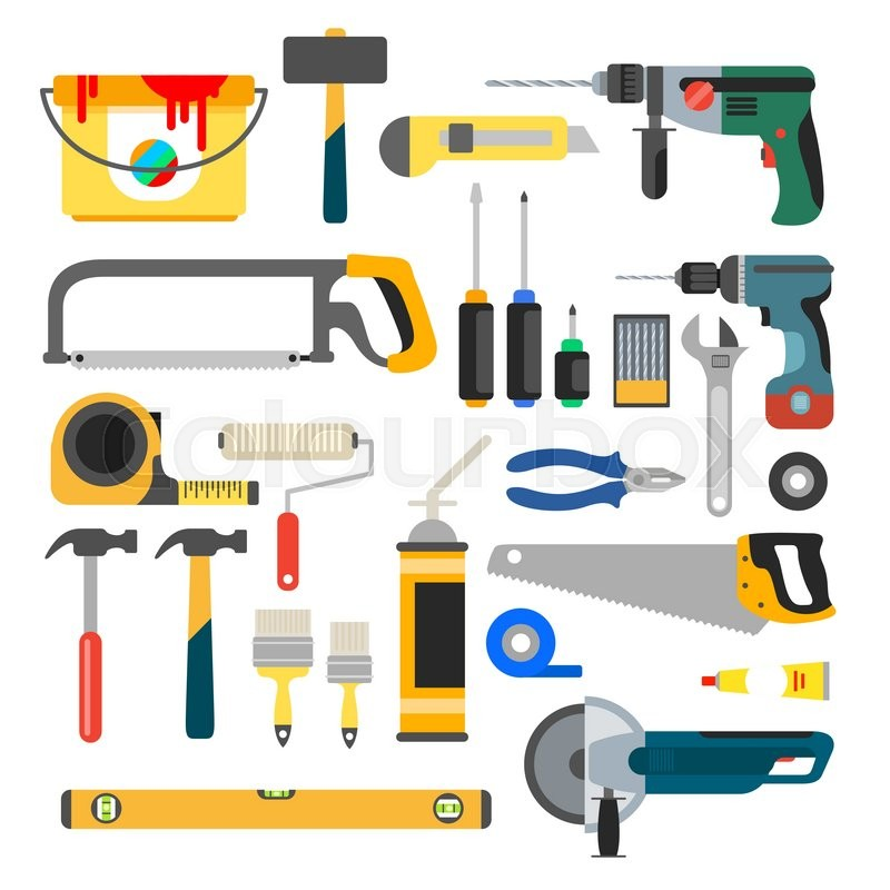 Working Tools Vector Set Tools For Repair And