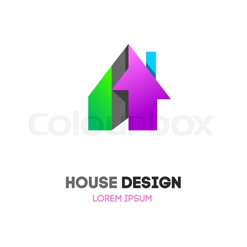 Abstract House Home Vector Logo Building Company Private Cottage Roof And Mortgage Banking Loan Royalty