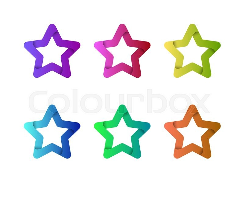 Star vector logo template. Star emblem. Celebrity star, champion ...