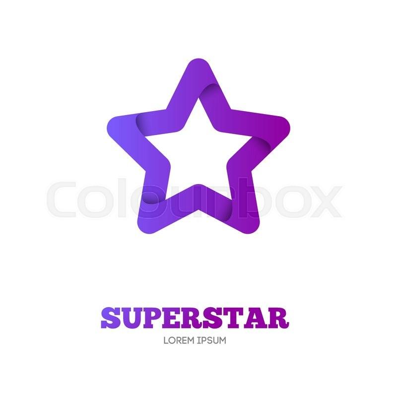 Star vector logo template. Star emblem. Celebrity star, champion ...