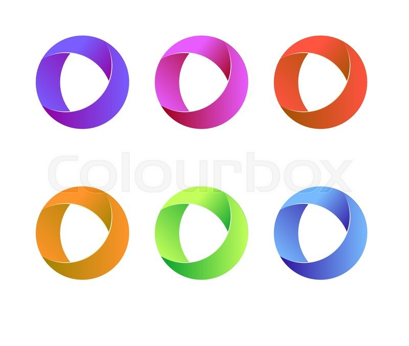 Vector circle logo. Vector circle round logo design. Abstract circle ...