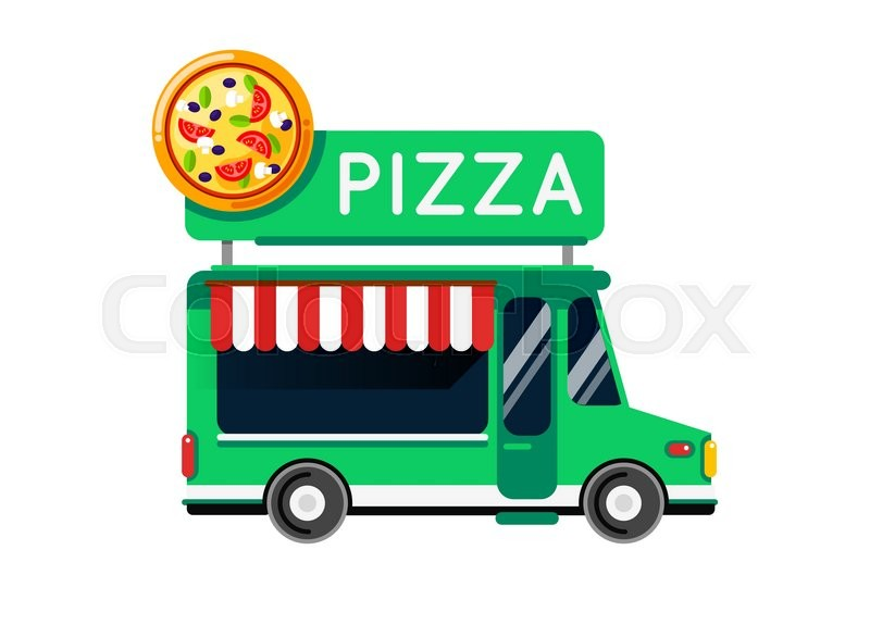 Stock Vector Of Pizza Food Truck City Car Auto Cafe