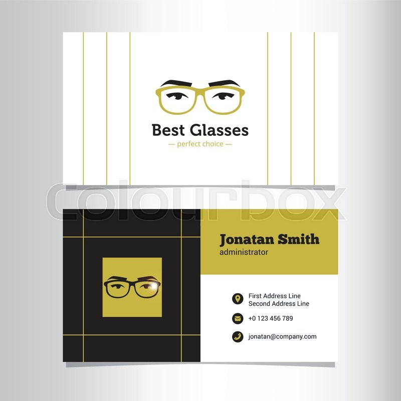 Vector modern business card template with glass store logo stock vector modern business card template with glass store logo stock vector colourbox fbccfo