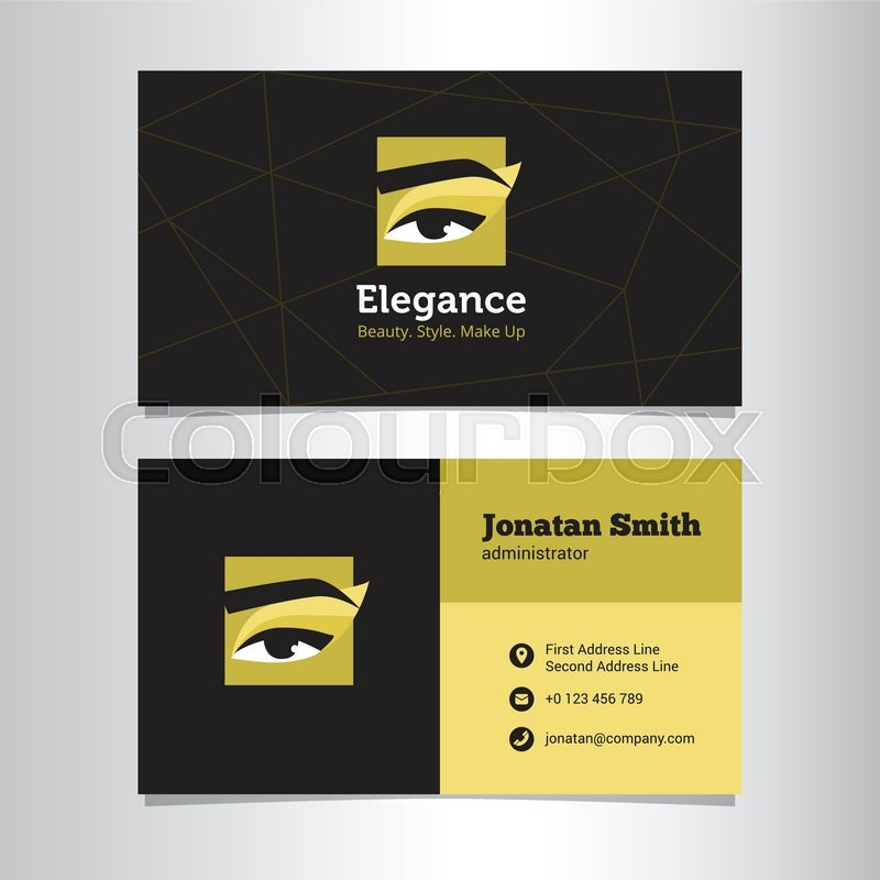 Vector modern business card template with make up studio logo stock vector of vector modern business card template with make up studio logo accmission Image collections