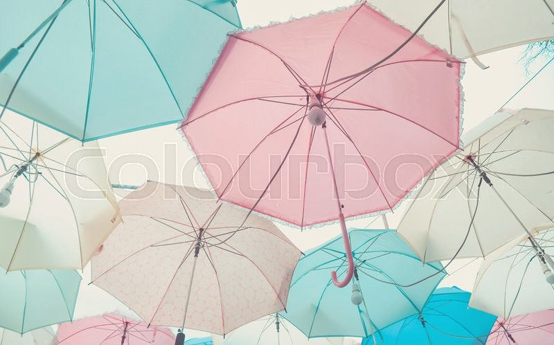 Umbrella pattern with pastel color tone | Stock Photo ... Vintage Pastel Photography Background