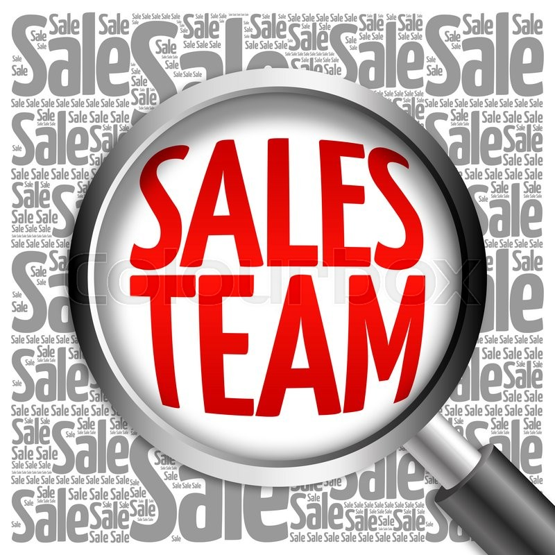 Sales Team sale word cloud with magnifying glass, business ...