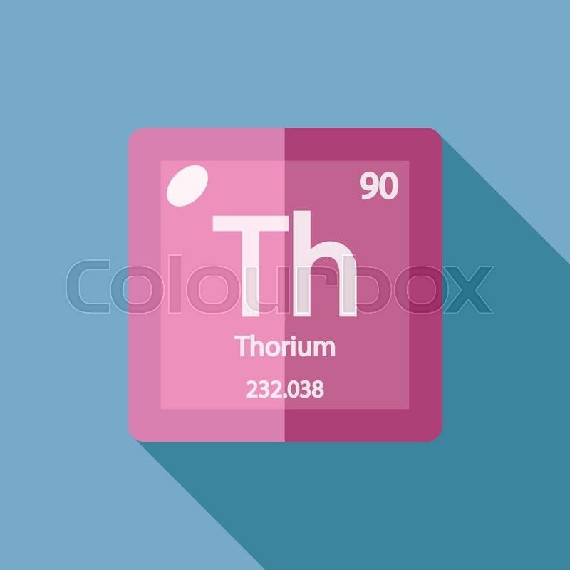 Chemical Element Thorium Flat Design Style Modern Vector