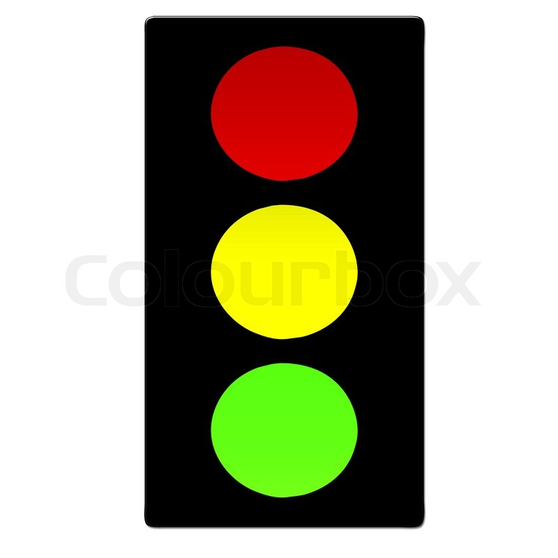 Traffic Lights With Red, Yellow And Green Lights On White Background |  Stock Photo | Colourbox Nice Look