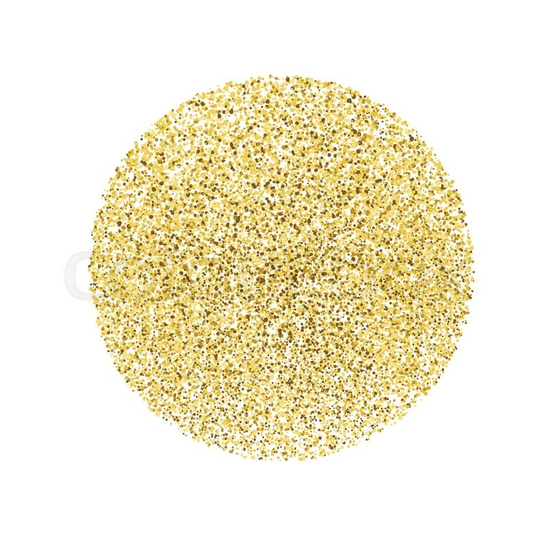 Circle With Gold Glitter Particles On White Background Golden Foil Effect Vector 18543294 on Star Shape With Colour