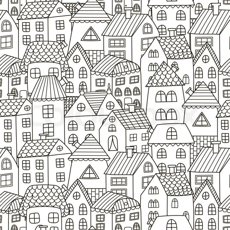 Haus, niedlich, stadtbild | Vektorgrafik | Colourbox