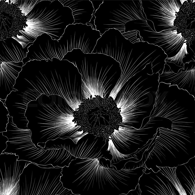 Beautiful monochrome black and white flowers and leaves isolated beautiful monochrome black and white flowers and leaves isolated floral design for greeting card and invitation of wedding birthday valentine39s day mightylinksfo