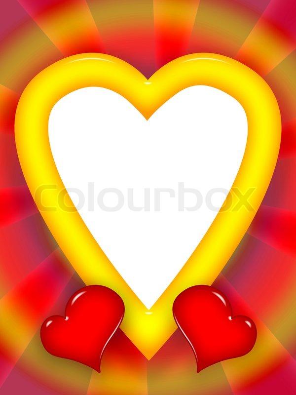 Bright Liebe Rahmen mit roten Herzen | Stockfoto | Colourbox