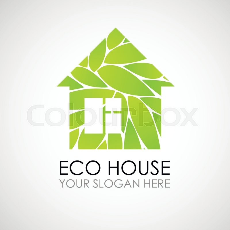Eco house logo design Ecological construction Eco architecture