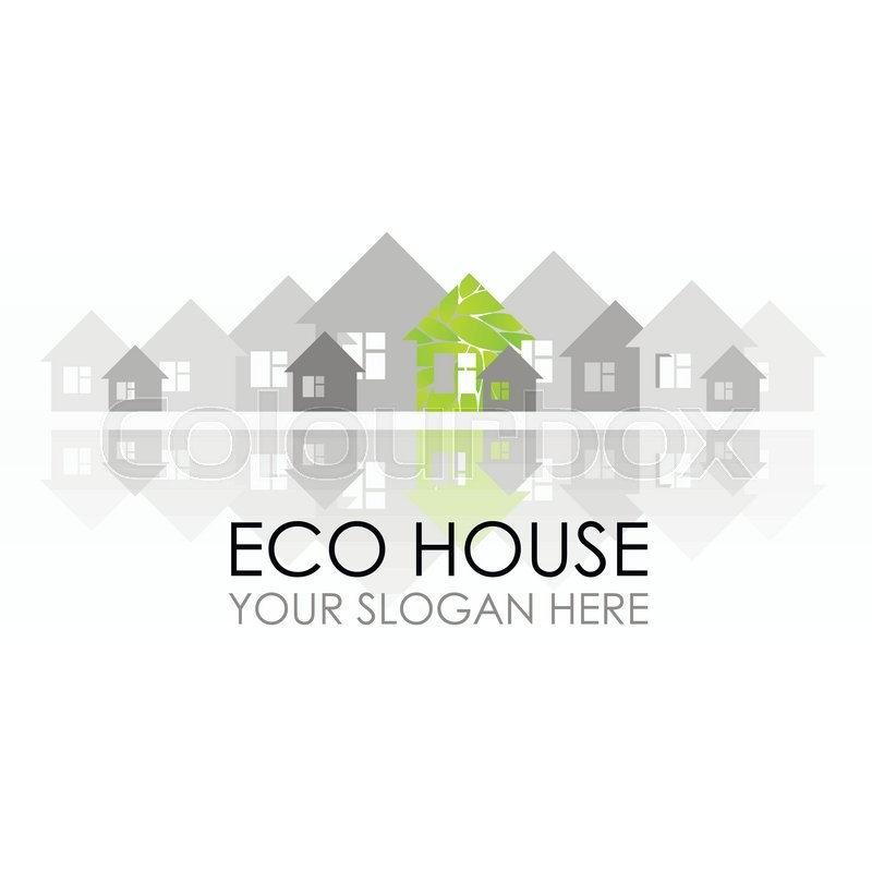 Eco House Logo Design. Ecological Construction. Eco