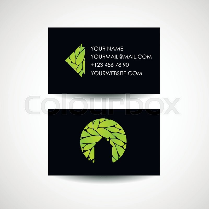 Home Design Business Ideas: Eco House Logo And Business Card Design. Ecological