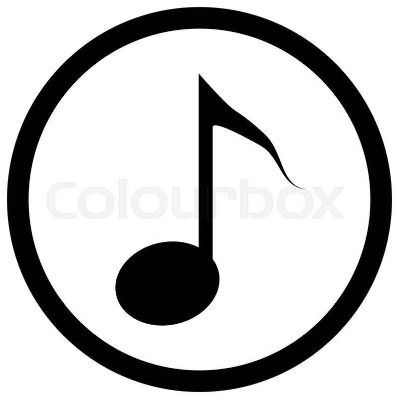 Note Icon Black Music Notes And Musical Icon Or Symbol Tune