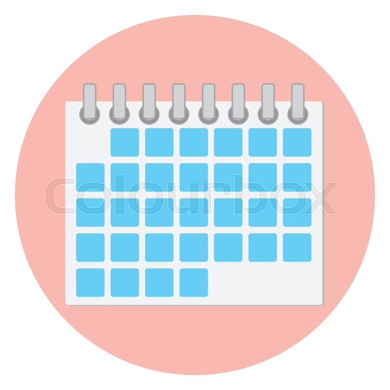 Calendar Design Icon : Calendar icon flat page and monthly