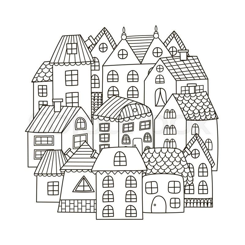 Häuser, städtisch, europäisch | Vektorgrafik | Colourbox