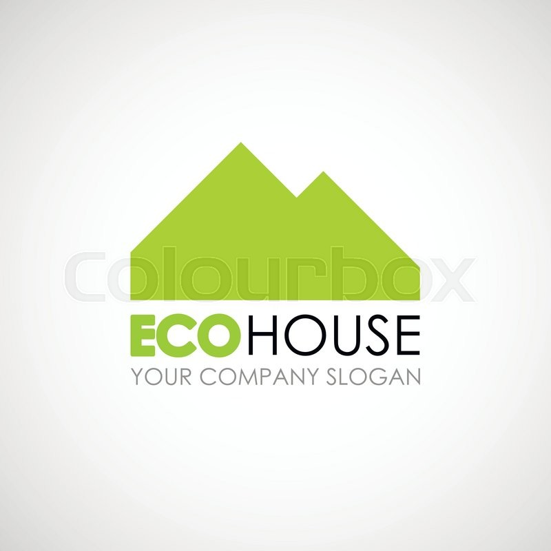 Eco House Logo Design Ecological Construction Idea Eco