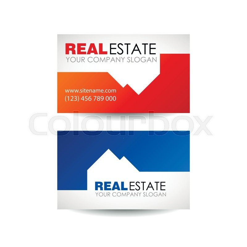 Real Estate Business Company Building Logo Design Concept Card Architecture
