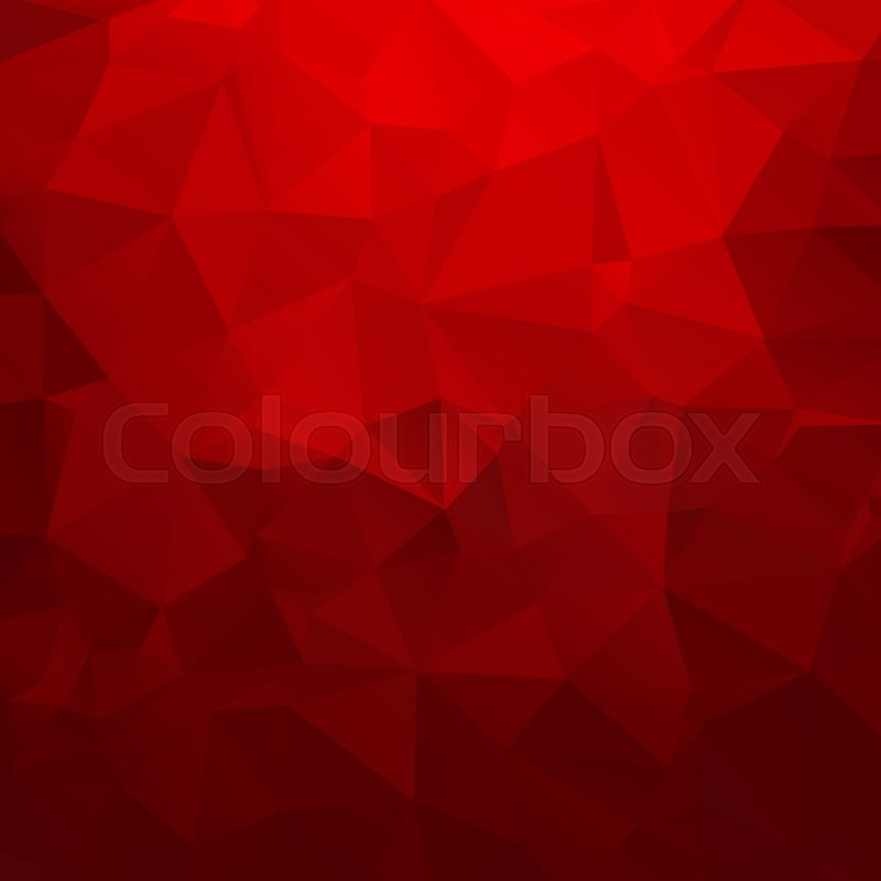Abstract geometric triangle background vector illustration for modern design red colors aqua water ice crystal bright poster