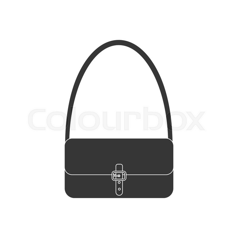 handbag vector icon woman bag vector illustration stock vector colourbox rh colourbox com bag vector logo bag victoria secret
