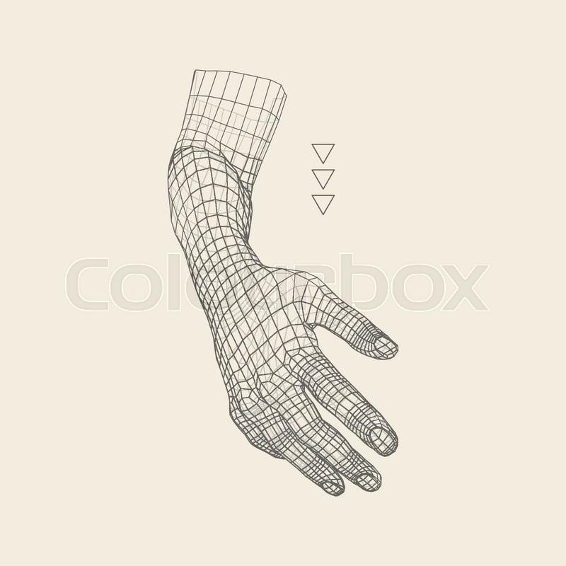 human arm human hand model hand scanning view of human hand 3d