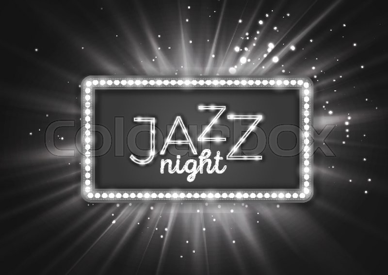 Jazz Blues Music Poster Flyer Template Black And White Vintage