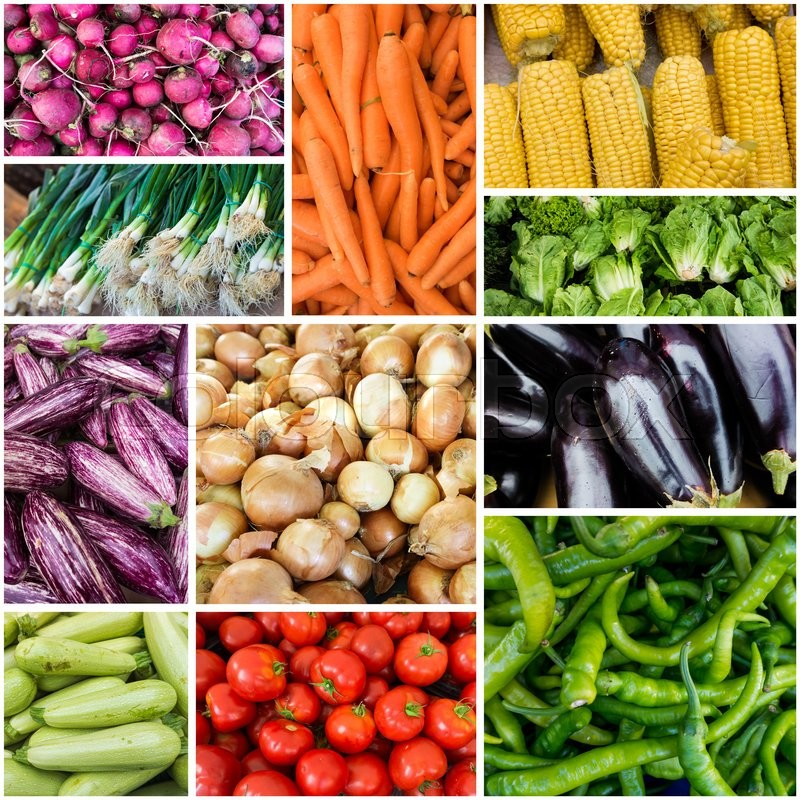 Different raw vegetables background.Healthy eating. vegetables collage, stock photo