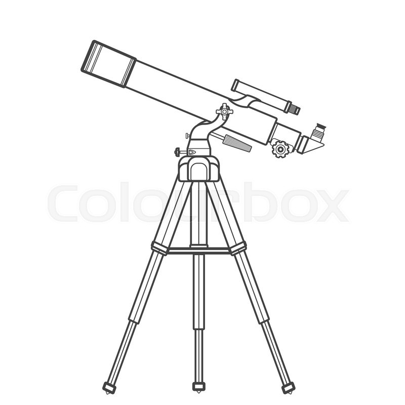 refracting telescope coloring pages sketch coloring page