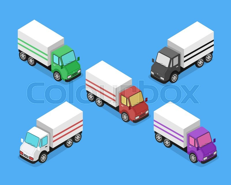 isometric delivery lorry car icon 3d delivery vector truck service
