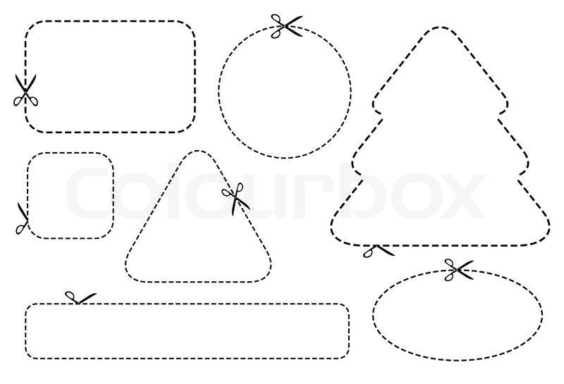 scissors template design elements stock vector colourbox