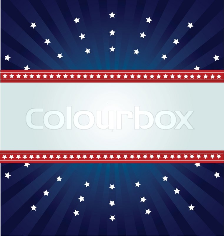 Patriotic Background For Fourth Of Stock Vector Colourbox