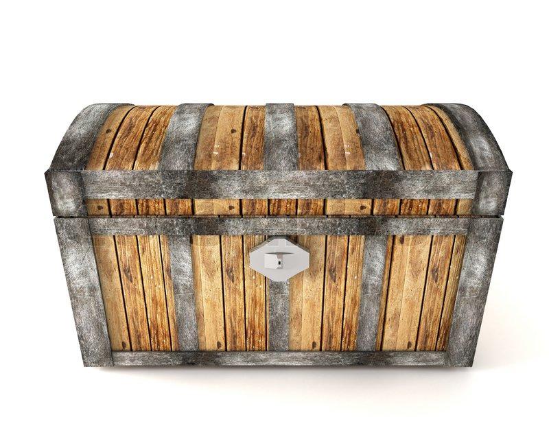treasure chest isolated on white background stock photo colourbox