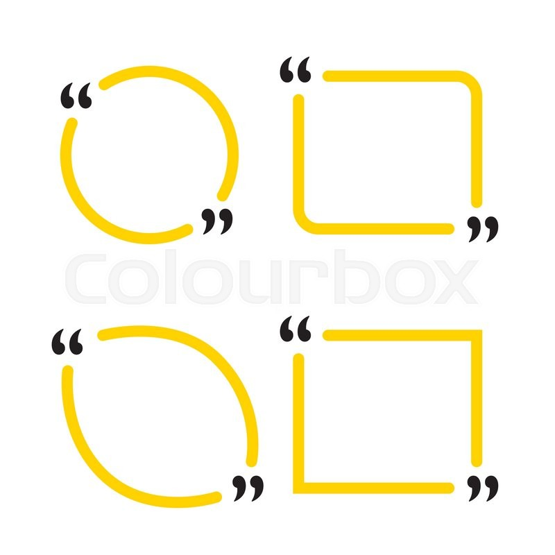 blank template quote blank template icon vector eps 10 set quote