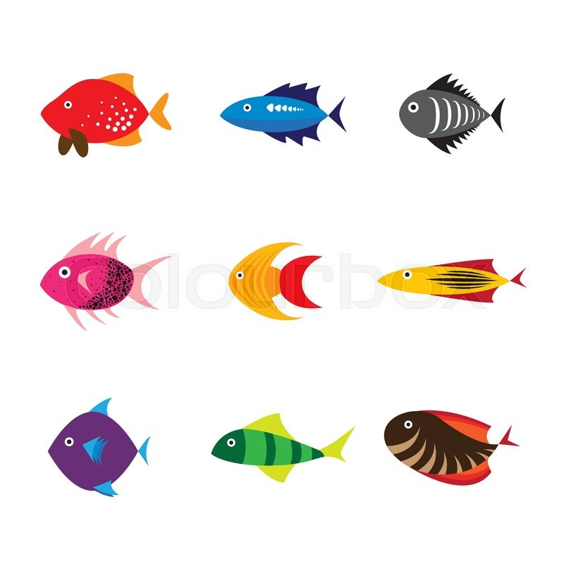 fish icon fish icon eps 10 fish icon vector fish icon flat design rh colourbox com vector fishing reel vector fishing reel