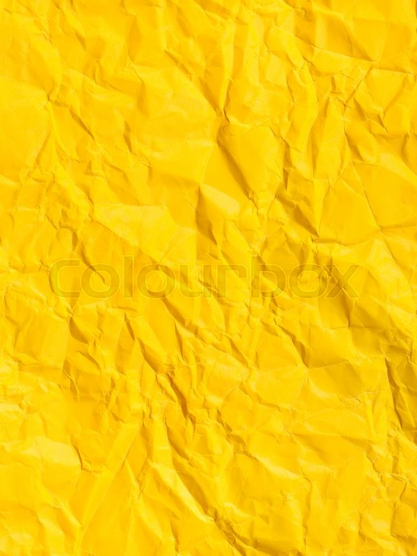 Vertical Background From Yellow Colour Crumpled Paper