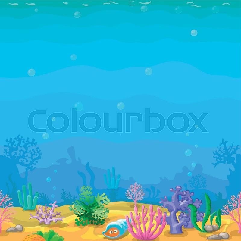 unterwasser untermeerisch horizontal  vektorgrafik
