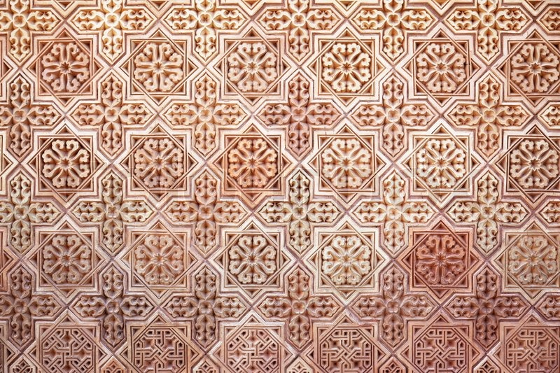 hintergrund des klassischen arabisch muster | stock-foto