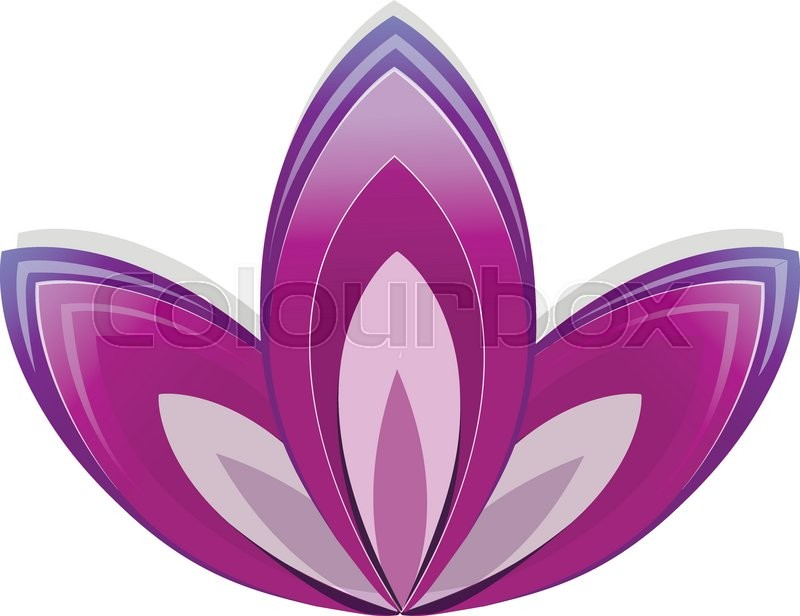 Lotus Flower As Symbol Of Yoga Vector Illustration For Yoga Event