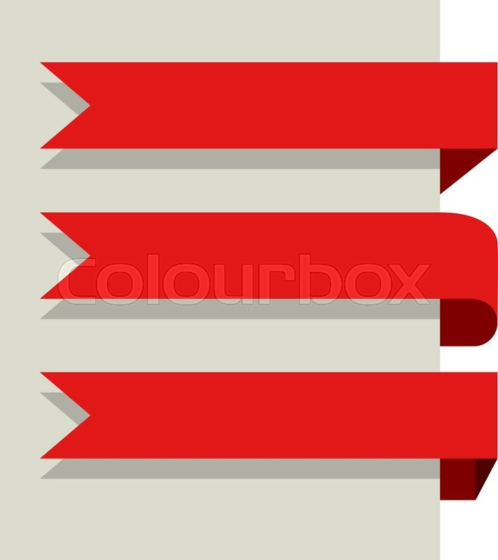 flat design red banners vector template isolated on white background rh colourbox com banners vectors free banner vector download