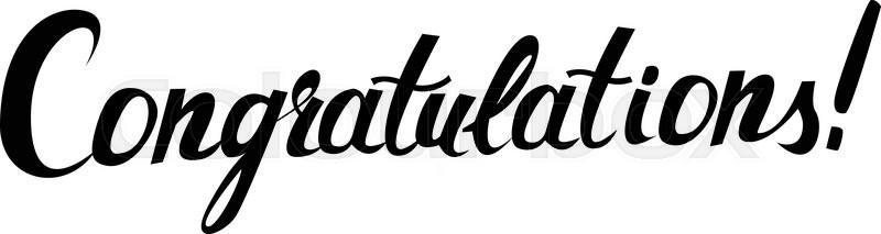 Stock vector of 'Congratulations original handwritten calligraphy ...