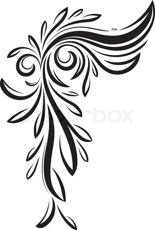 Decorative floral corner - vintage     | Stock vector