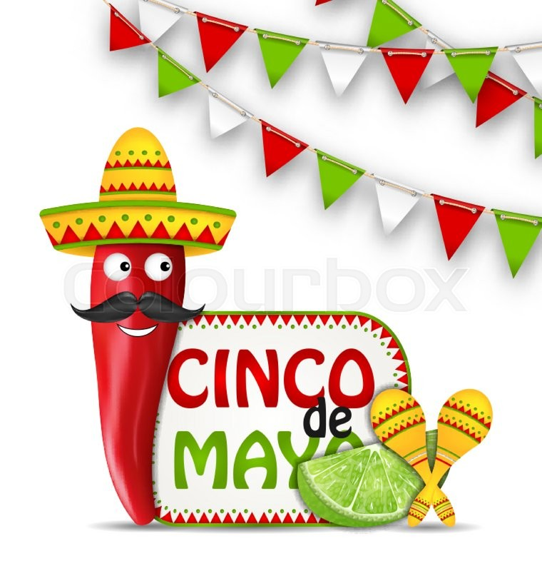 illustration holiday celebration background for cinco de mayo with