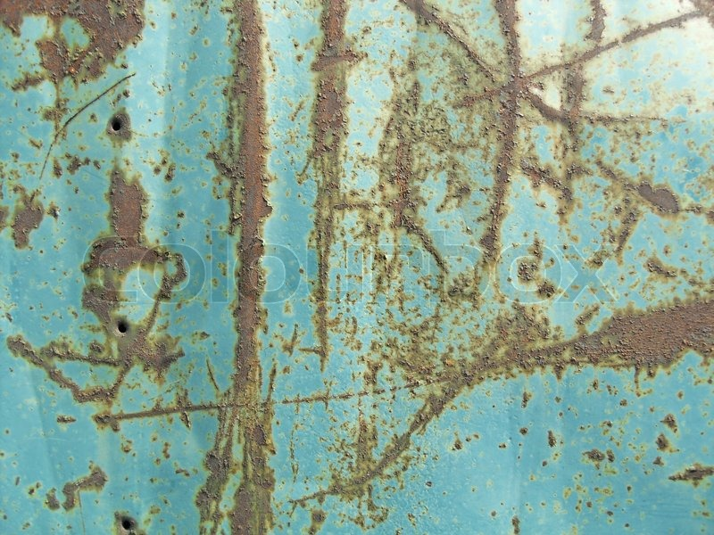 Metal wand in blauer farbe bemalt stockfoto colourbox - Metallic farbe wand ...