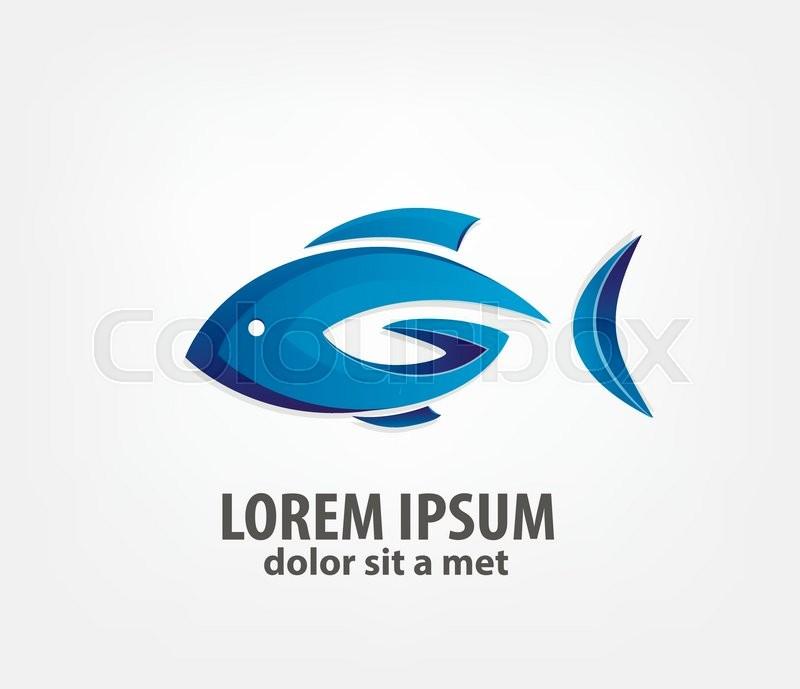 logo fish 3d creative logo design template vector logo template company logo design stock vector colourbox