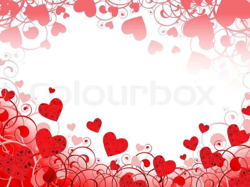 horizontale rote herz rahmen mit strudeln und copyspace f r ihren text stockfoto colourbox. Black Bedroom Furniture Sets. Home Design Ideas