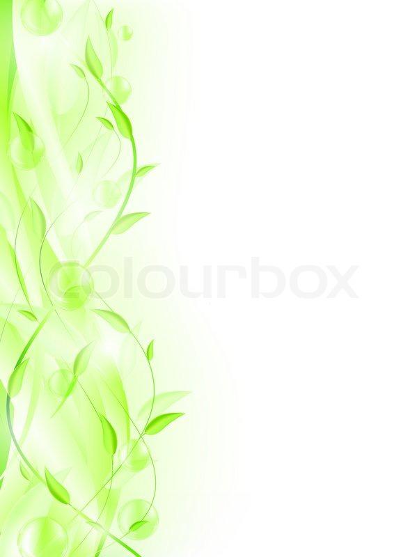 gr ne bl tter mit blasen und copyspace f r ihren text stockfoto colourbox. Black Bedroom Furniture Sets. Home Design Ideas