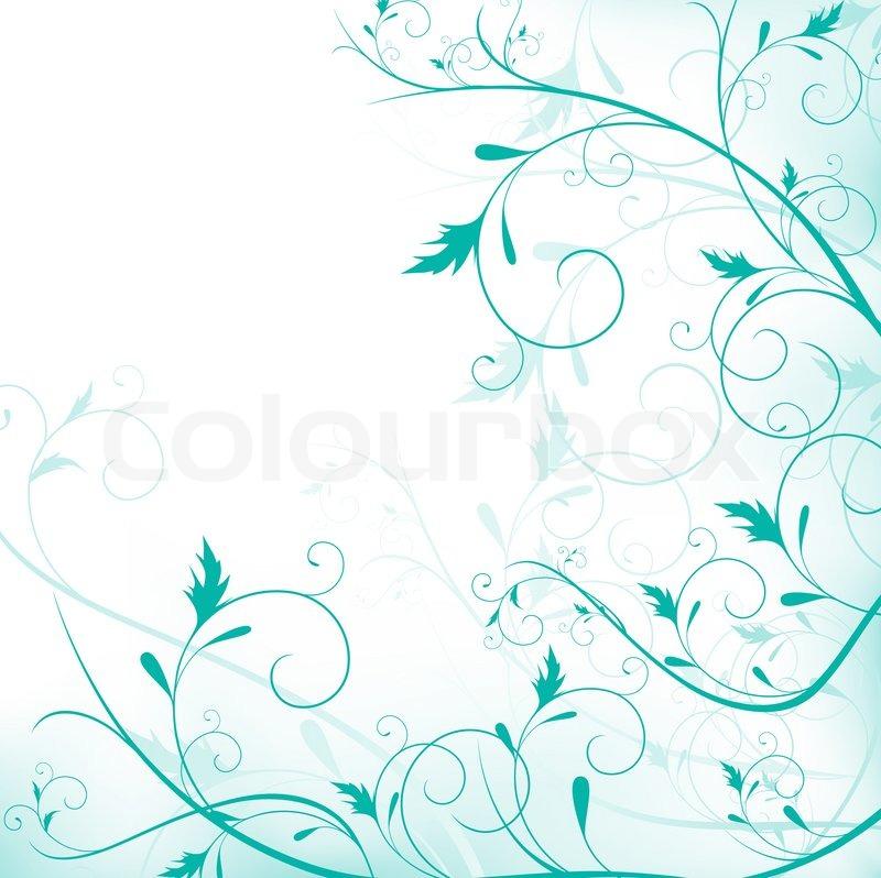 illustration von floralen rahmen mit wirbelt in hellgr n stockfoto colourbox. Black Bedroom Furniture Sets. Home Design Ideas