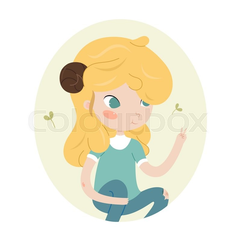Cute Horoscope Zodiac Signs Aries Series Of Cartoon Zodiaczodiac